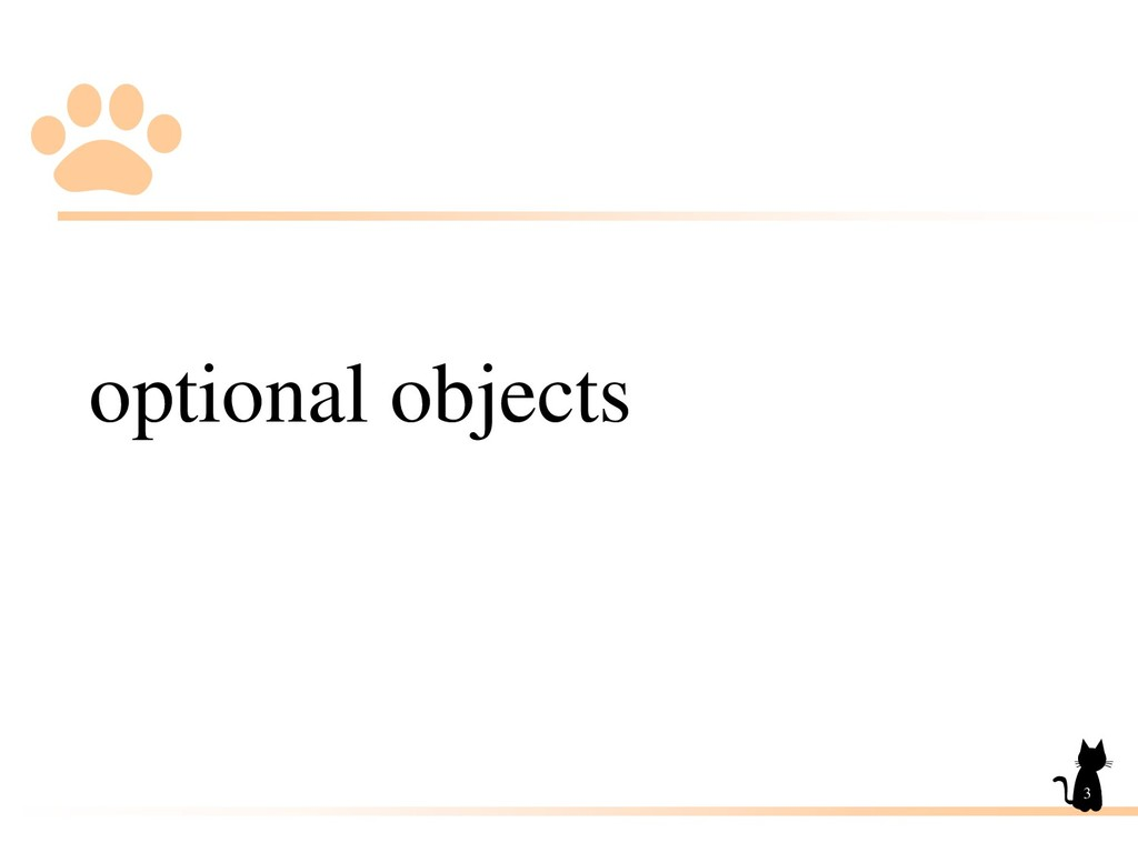 optional objects 3