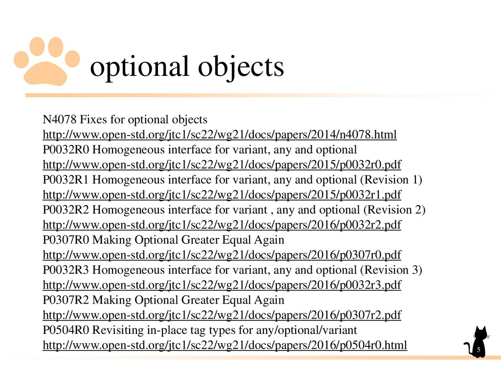 optional objects 5 N4078 Fixes for optional obj...