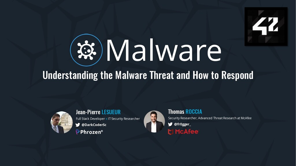 Malware Understanding the Malware Threat and Ho...
