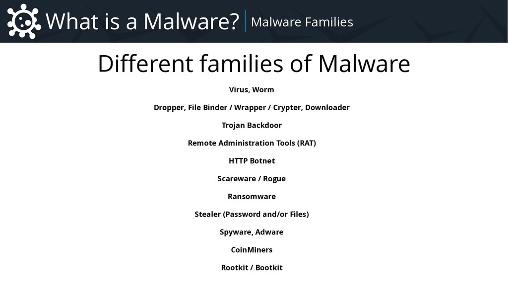 Malware Introduction to Malware – Focus on Remo...