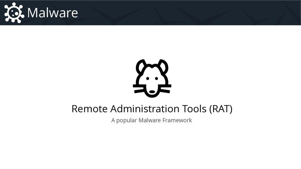 Remote Administration Tools (RAT) Malware A pop...