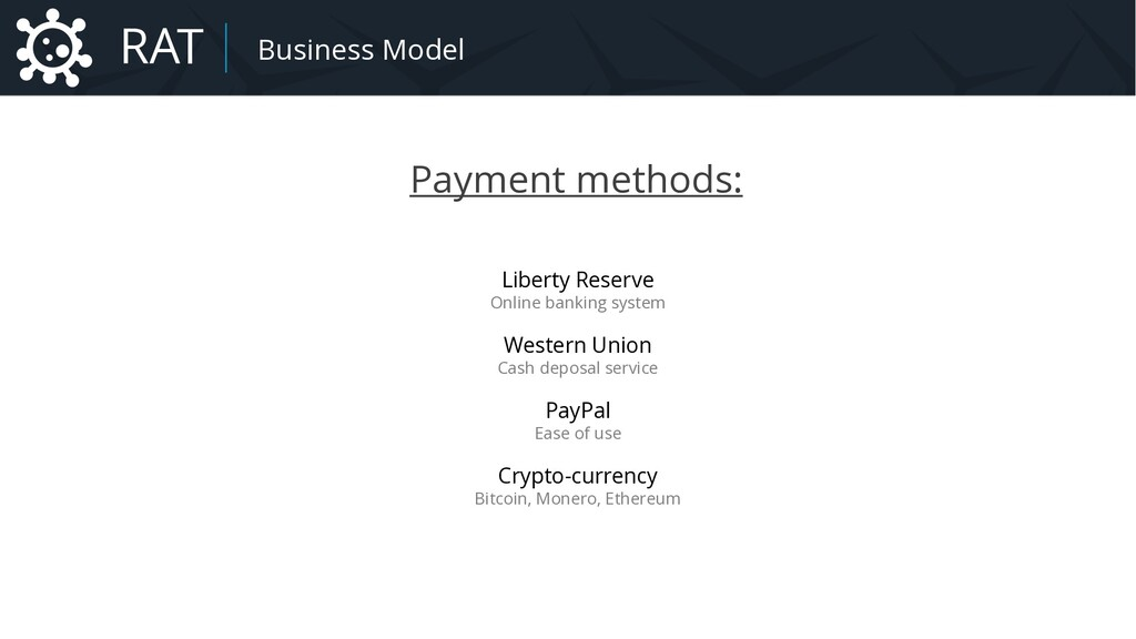 Payment methods: Liberty Reserve Online banking...