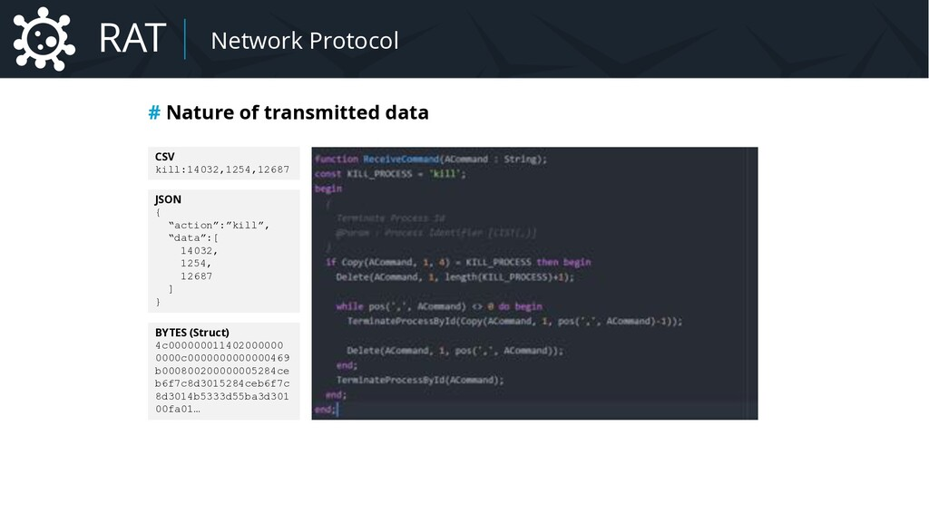 Malware Network Protocol # Nature of transmitte...