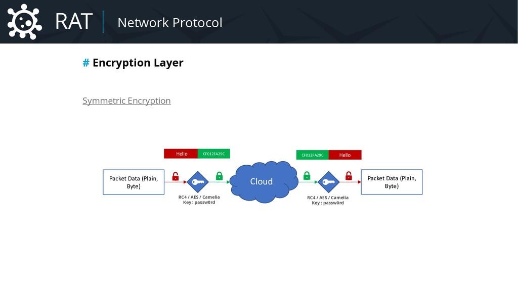 Malware Network Protocol # Encryption Layer Sym...
