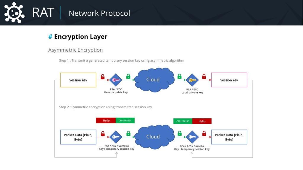 Malware Network Protocol # Encryption Layer Asy...