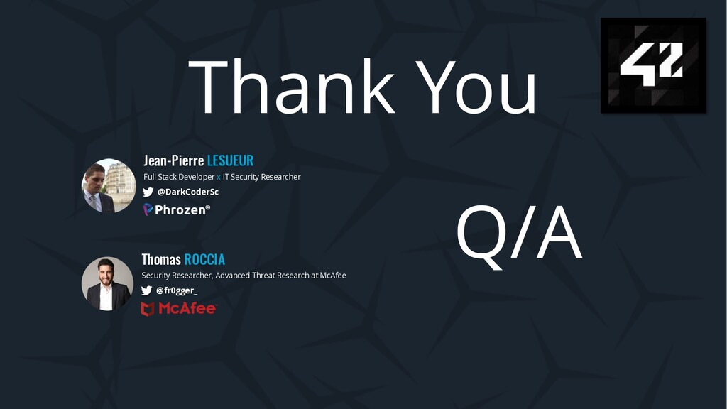 Thank You Jean-Pierre LESUEUR Full Stack Develo...