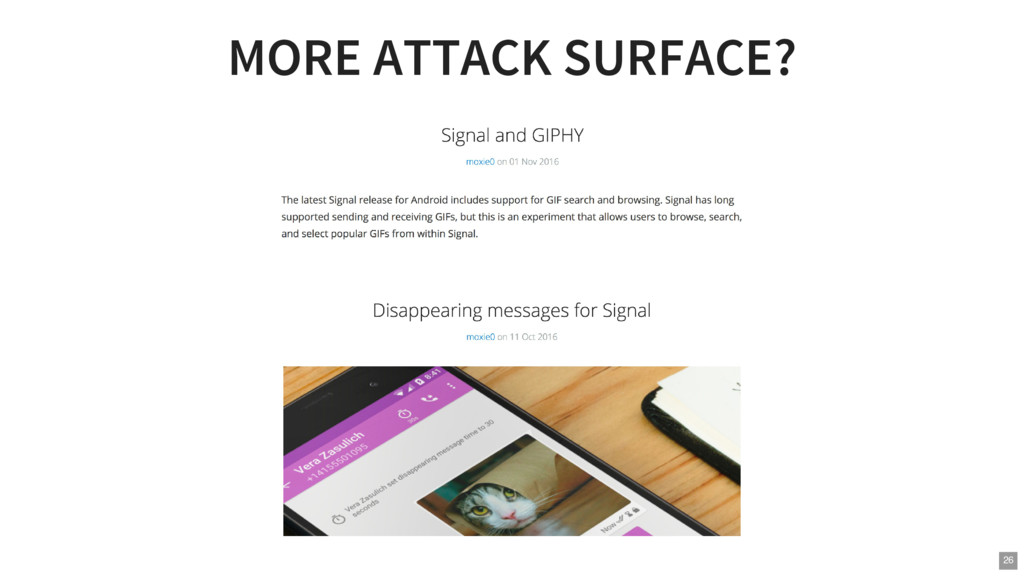 MORE ATTACK SURFACE? 26