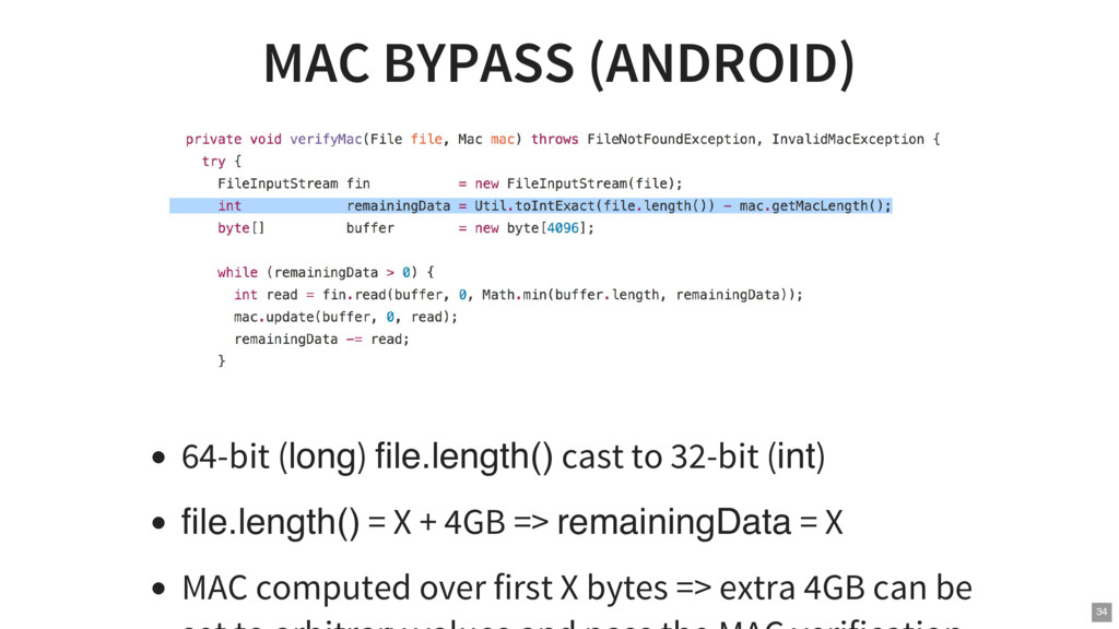 MAC BYPASS (ANDROID) 64-bit (long) file.length(...