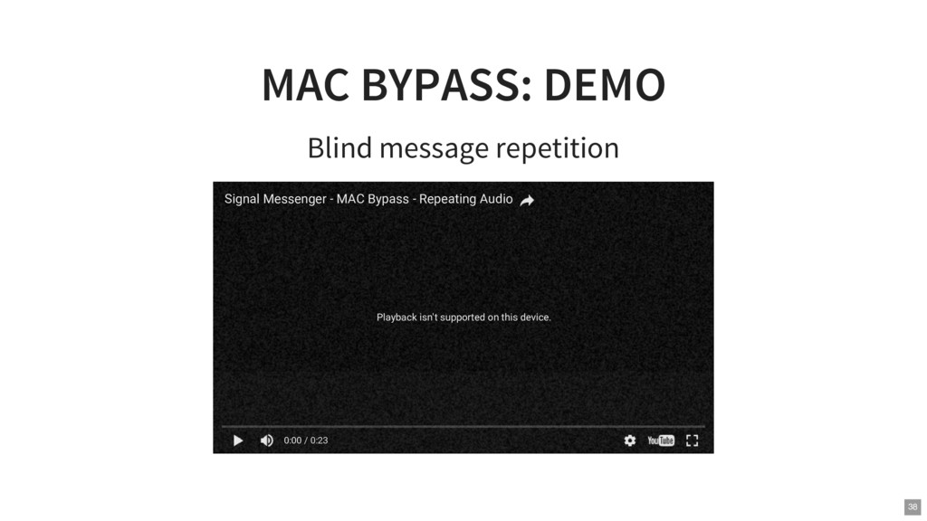 MAC BYPASS: DEMO Blind message repetition Playb...