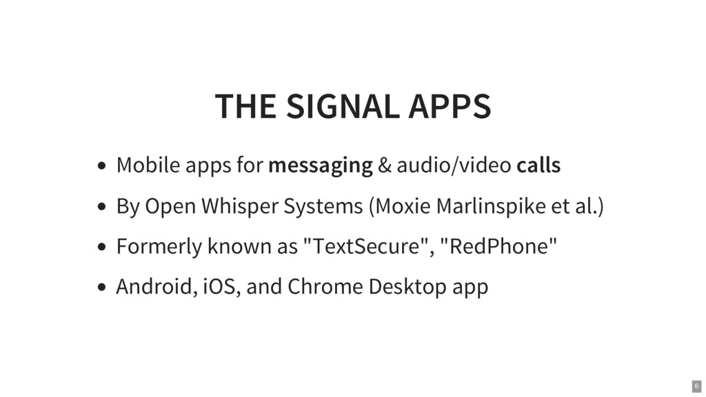 THE SIGNAL APPS Mobile apps for messaging & aud...
