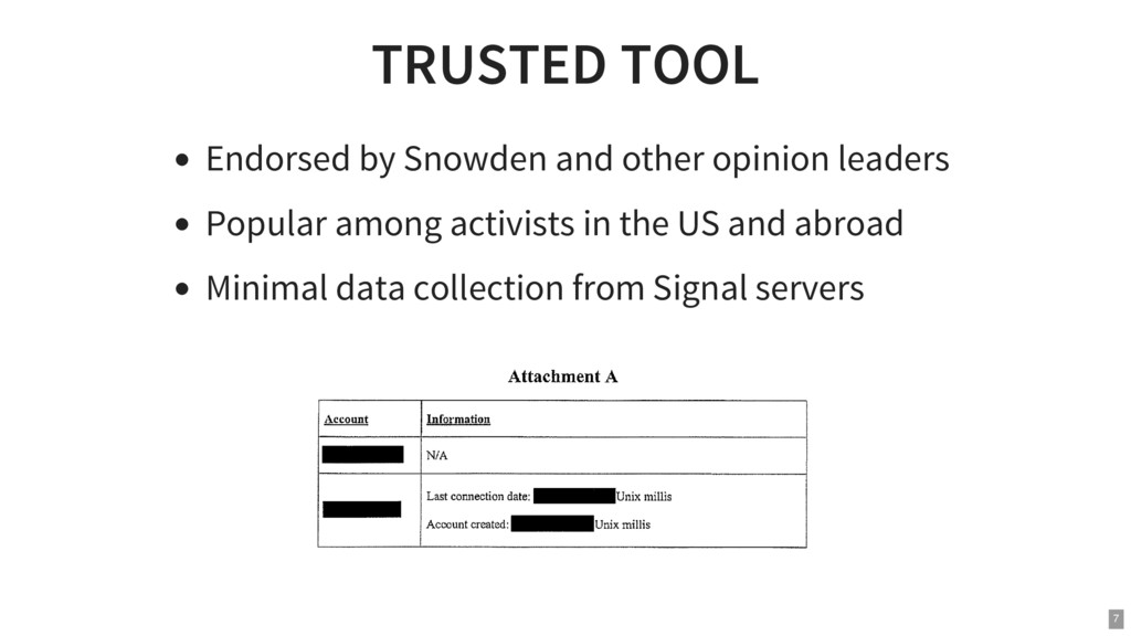 TRUSTED TOOL Endorsed by Snowden and other opin...