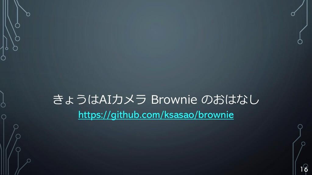 きょうはAIカメラ Brownie のおはなし https://github.com/ksas...