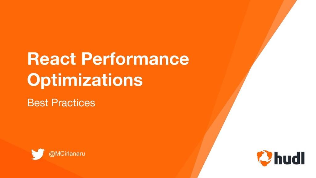 React Performance Optimizations Best Practices ...