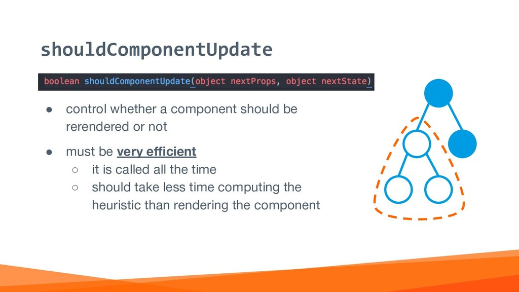 ● control whether a component should be rerende...