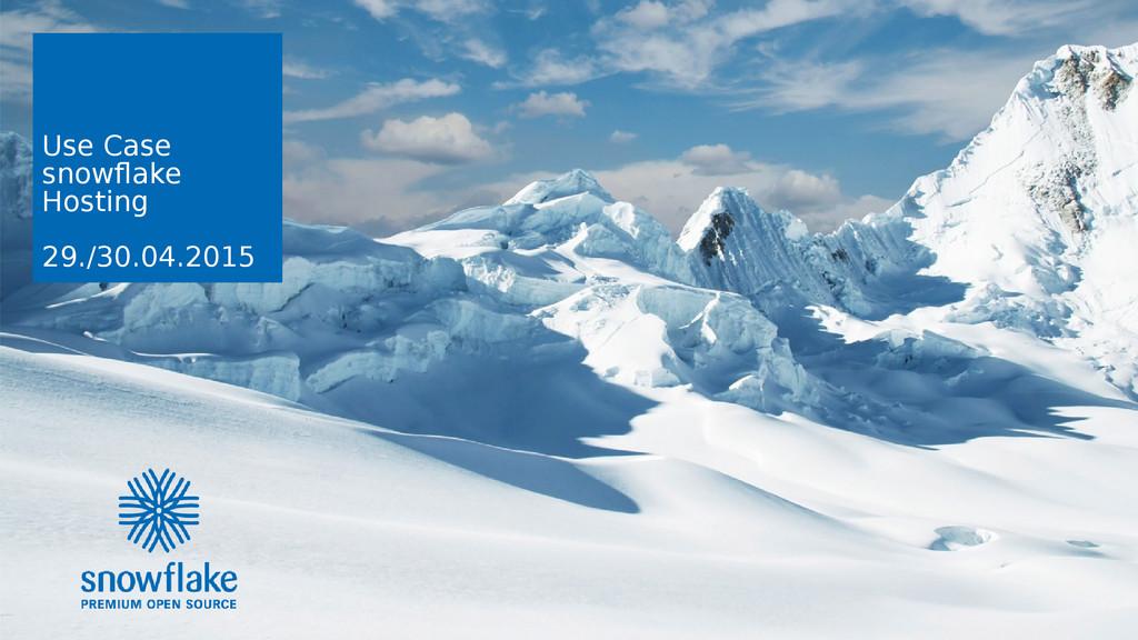 snowflake | Der Weg zur elastischen ICT-Infrast...
