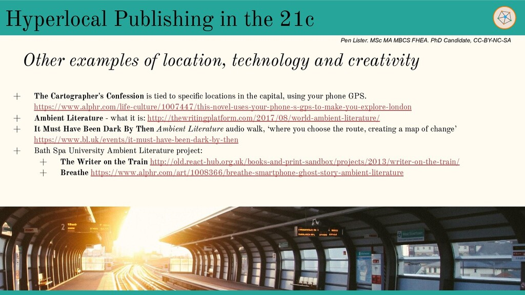 Hyperlocal Publishing in the 21c + The Cartogra...