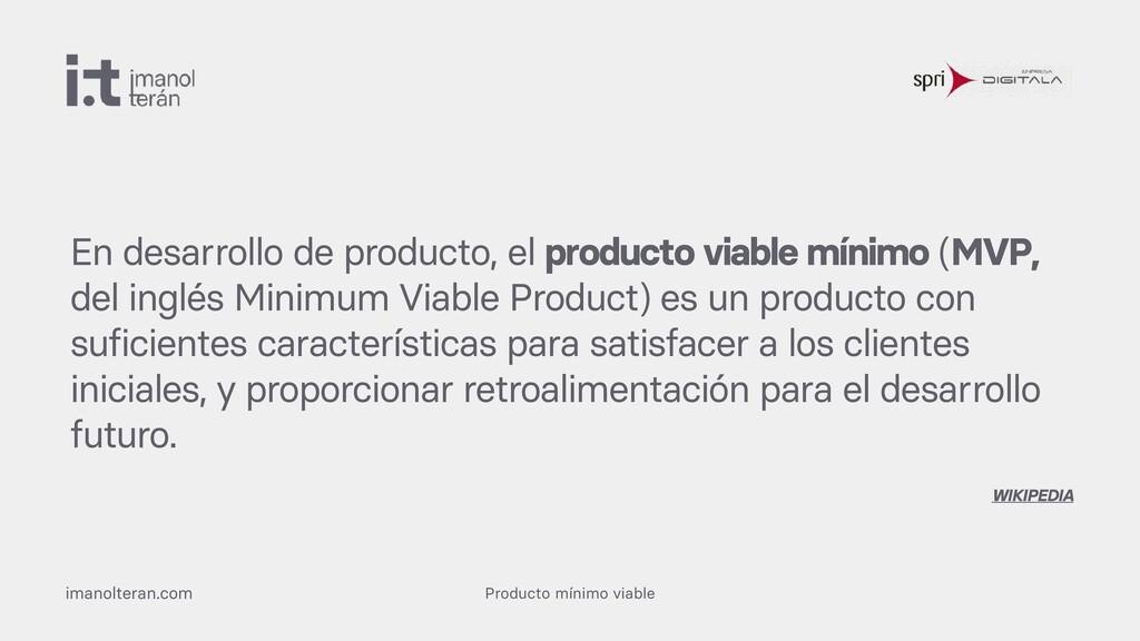Producto mínimo viable imanolteran.com En desar...