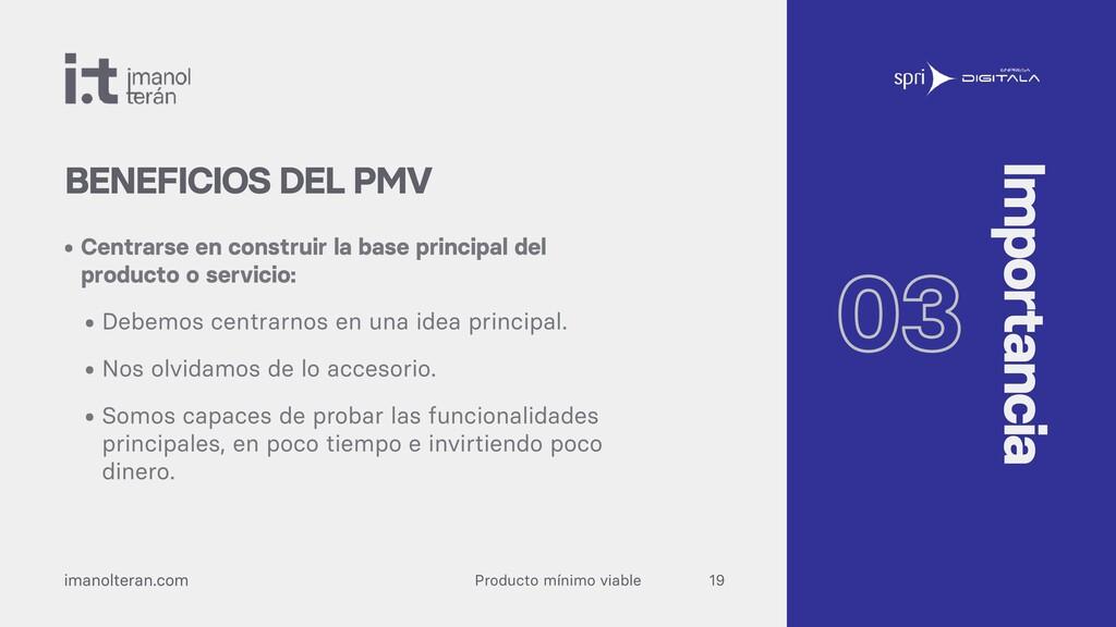 Producto mínimo viable imanolteran.com • Centra...