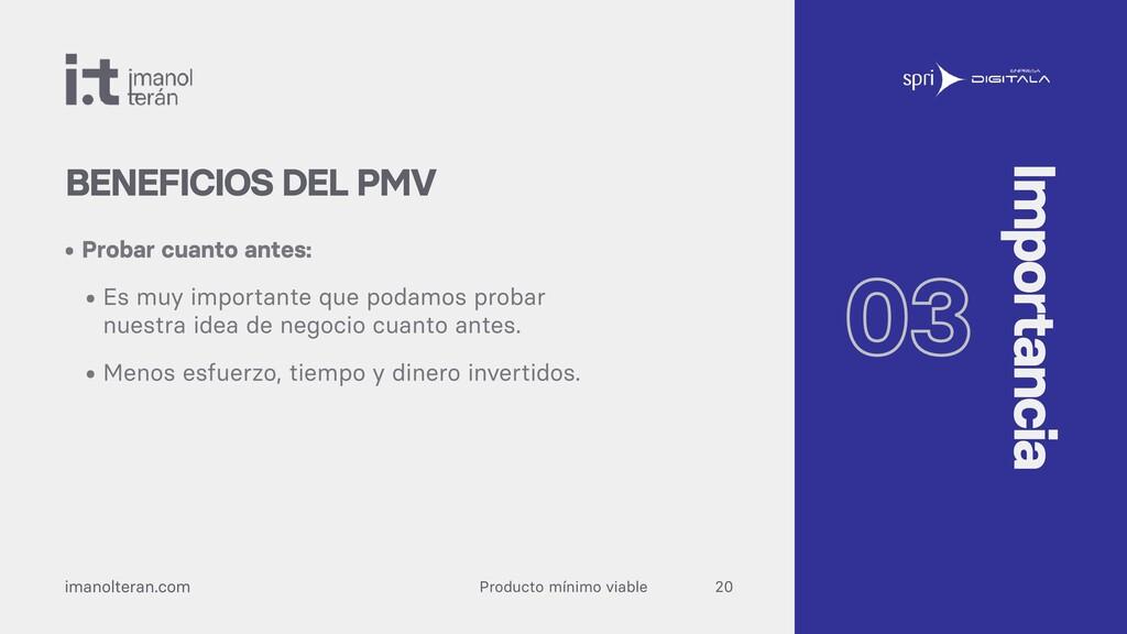 Producto mínimo viable imanolteran.com • Probar...