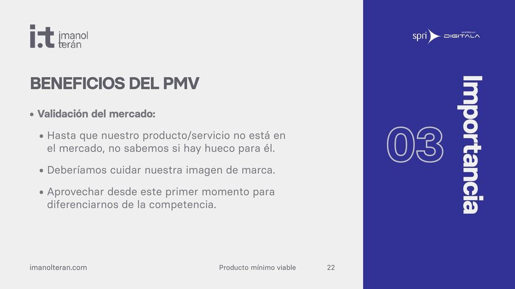 Producto mínimo viable imanolteran.com • Valida...