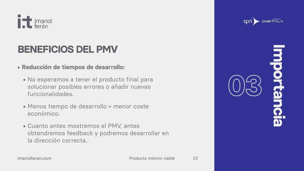 Producto mínimo viable imanolteran.com • Reducc...