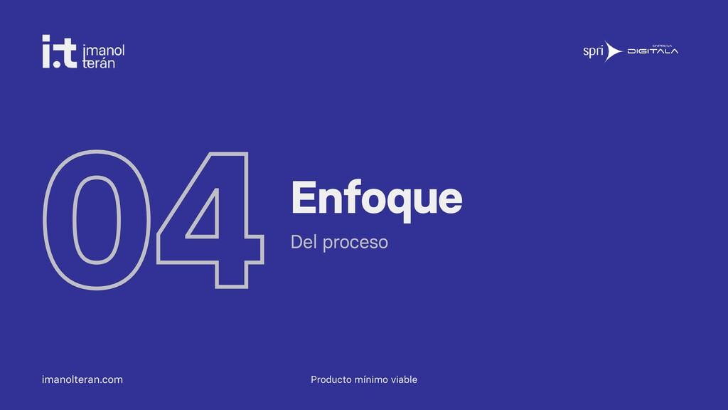 imanolteran.com 04Enfoque Del proceso Producto ...