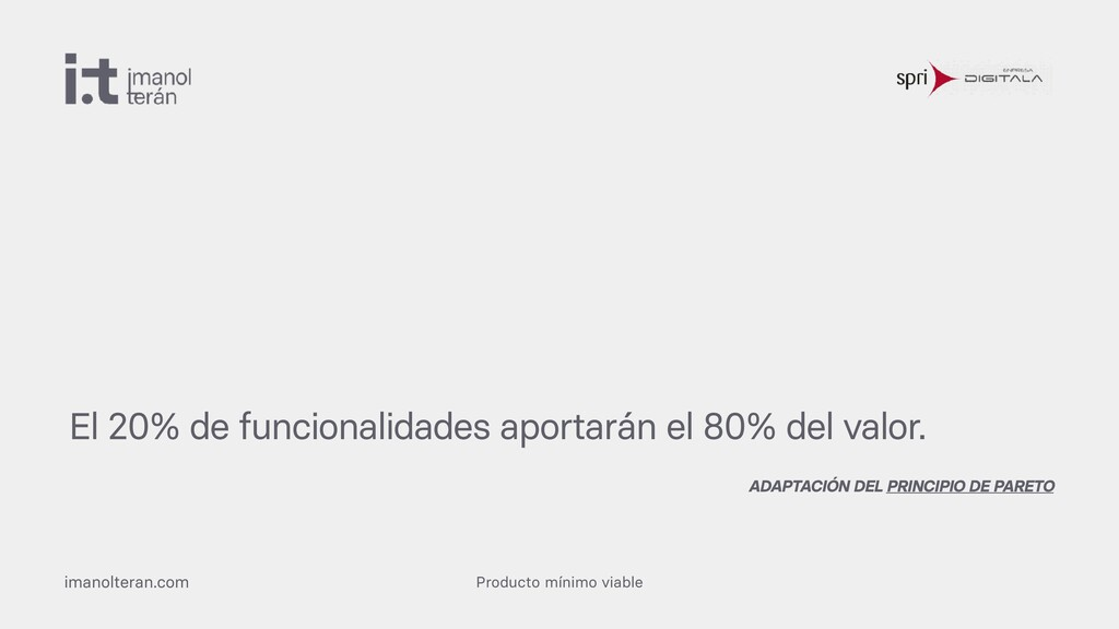 Producto mínimo viable imanolteran.com El 20% d...