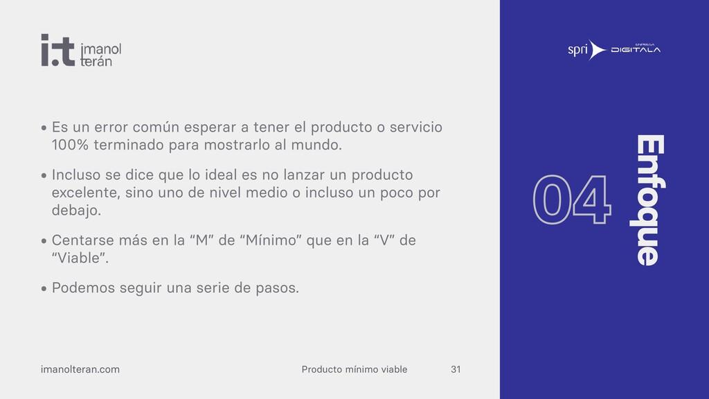 Producto mínimo viable imanolteran.com • Es un ...