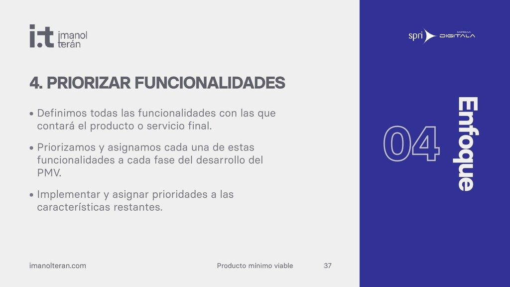Producto mínimo viable imanolteran.com • Defini...