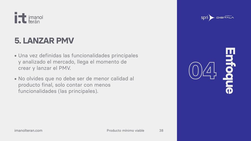 Producto mínimo viable imanolteran.com • Una ve...