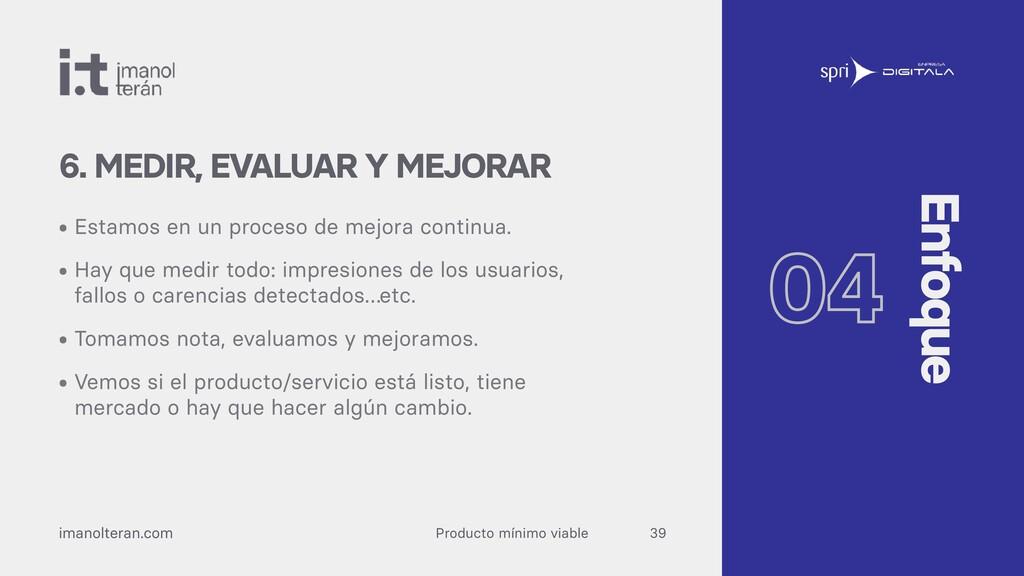 Producto mínimo viable imanolteran.com • Estamo...