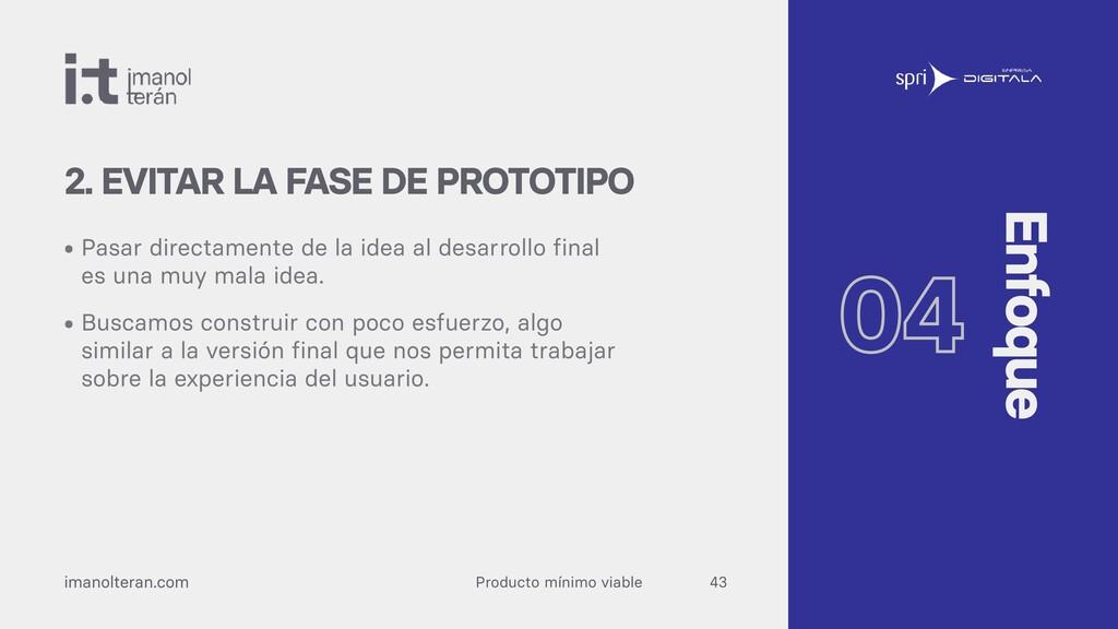 Producto mínimo viable imanolteran.com • Pasar ...