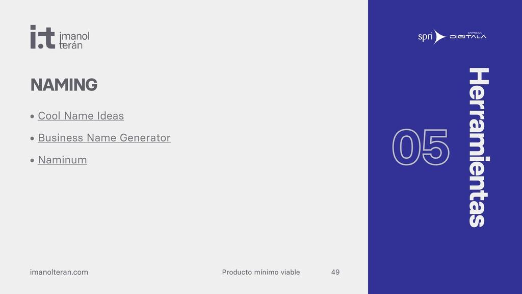 Producto mínimo viable imanolteran.com • Cool N...