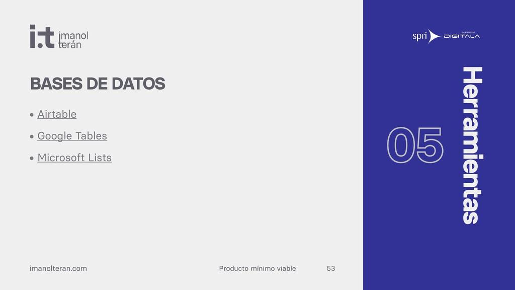 Producto mínimo viable imanolteran.com • Airtab...