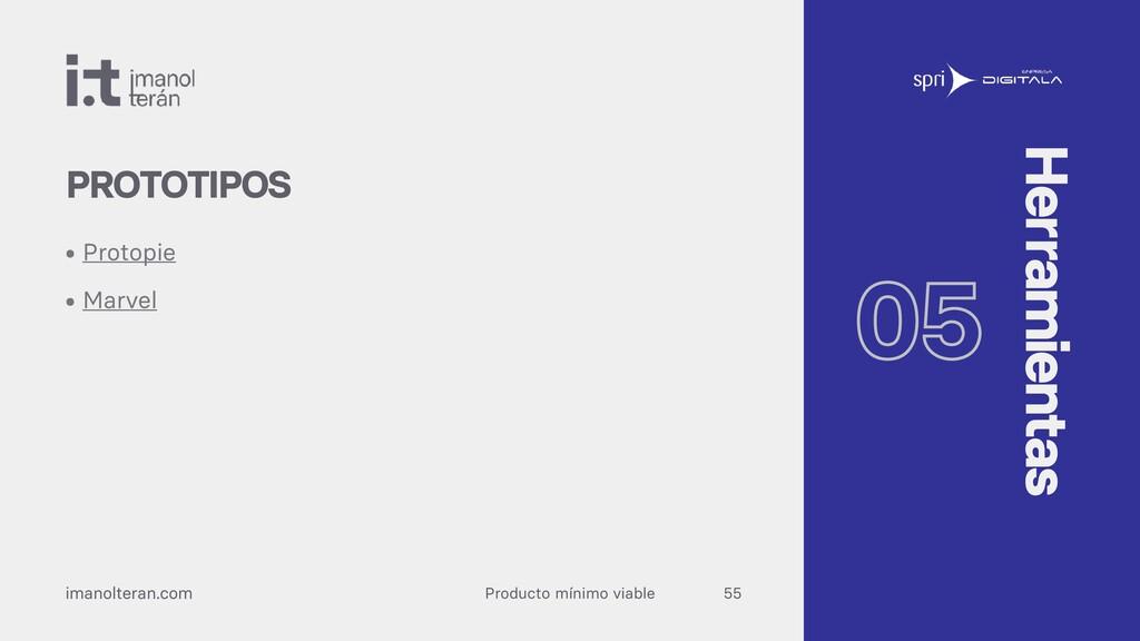 Producto mínimo viable imanolteran.com • Protop...