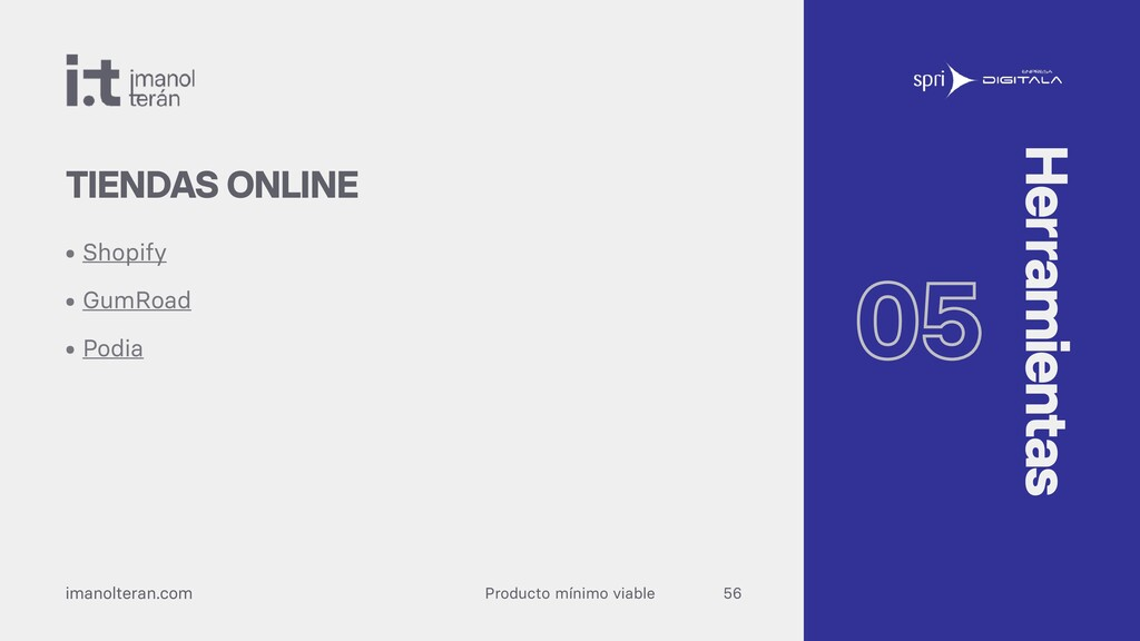 Producto mínimo viable imanolteran.com • Shopif...