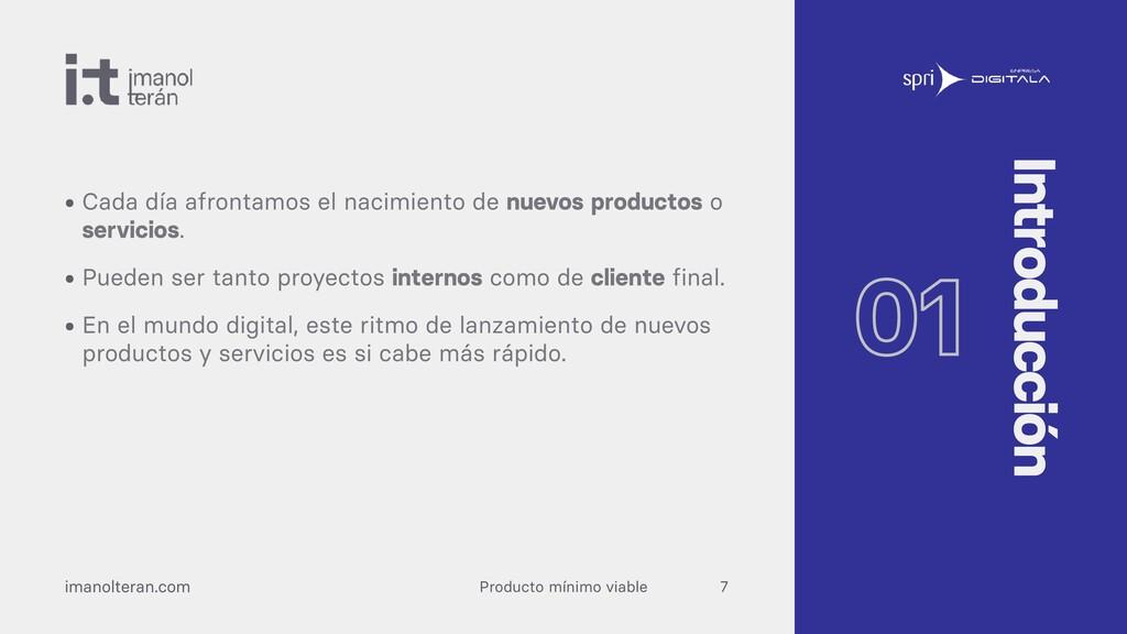 Producto mínimo viable imanolteran.com • Cada d...