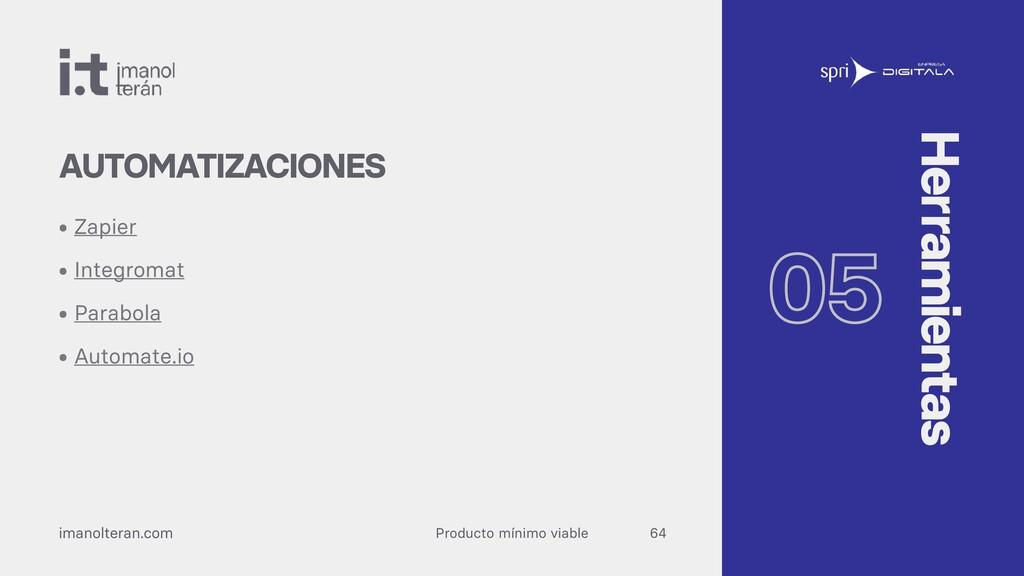 Producto mínimo viable imanolteran.com • Zapier...