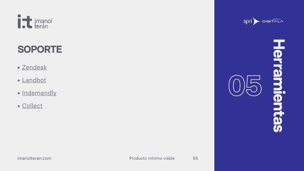 Producto mínimo viable imanolteran.com • Zendes...