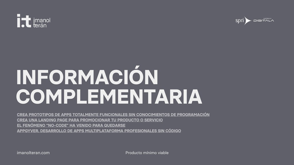 Producto mínimo viable imanolteran.com INFORMAC...