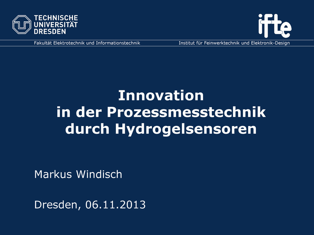Innovation in der Prozessmesstechnik durch Hydr...