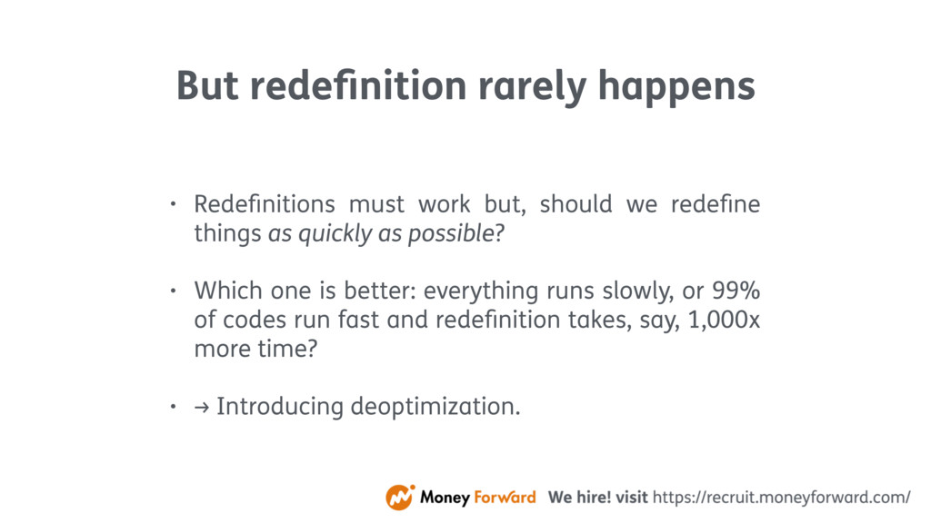 But redefinition rarely happens • Redefinitions m...