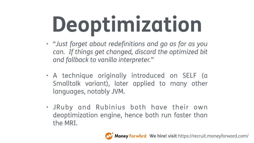"Deoptimization • ""Just forget about redefinition..."