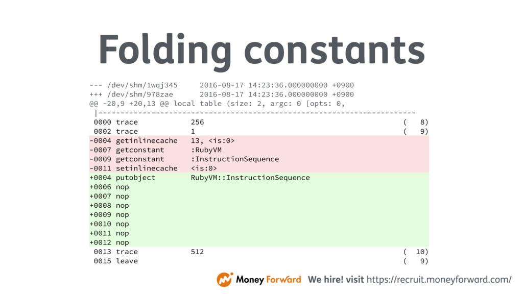 Folding constants --- /dev/shm/1wqj345 2016-08-...