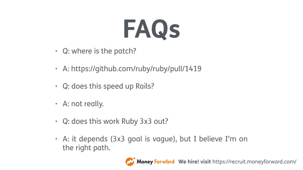 FAQs • Q: where is the patch? • A: https://gith...