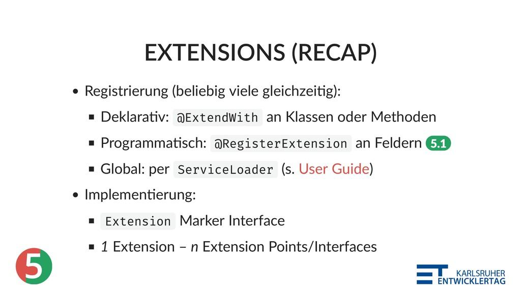 5 EXTENSIONS (RECAP) Registrierung (beliebig vi...