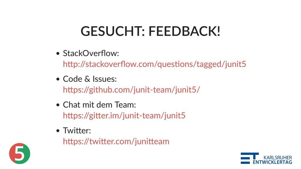 5 GESUCHT: FEEDBACK! StackOverflow: Code & Issue...