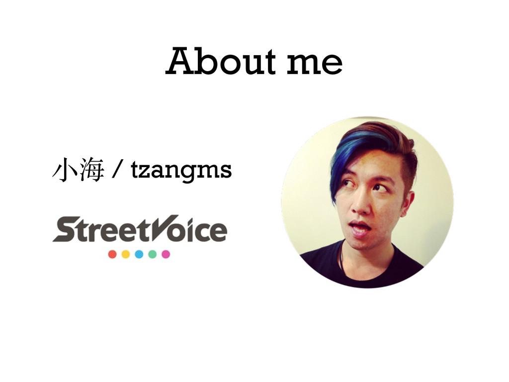 About me ⼩小海 / tzangms