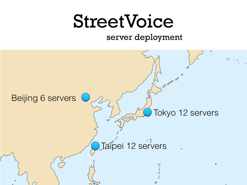StreetVoice Tokyo 12 servers Taipei 12 servers ...
