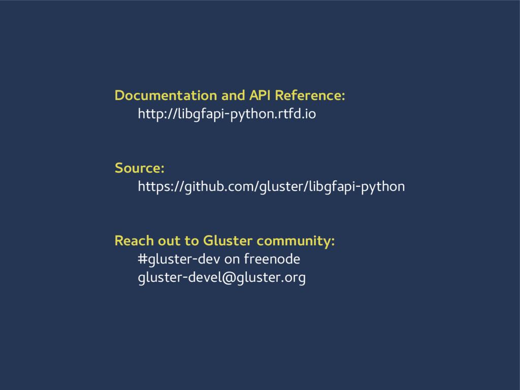 Documentation and API Reference: http://libgfap...